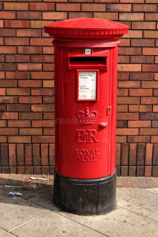 Hennes majestäts pillarbox, castleford, yorkshire, UK, April, 2019 arkivbild