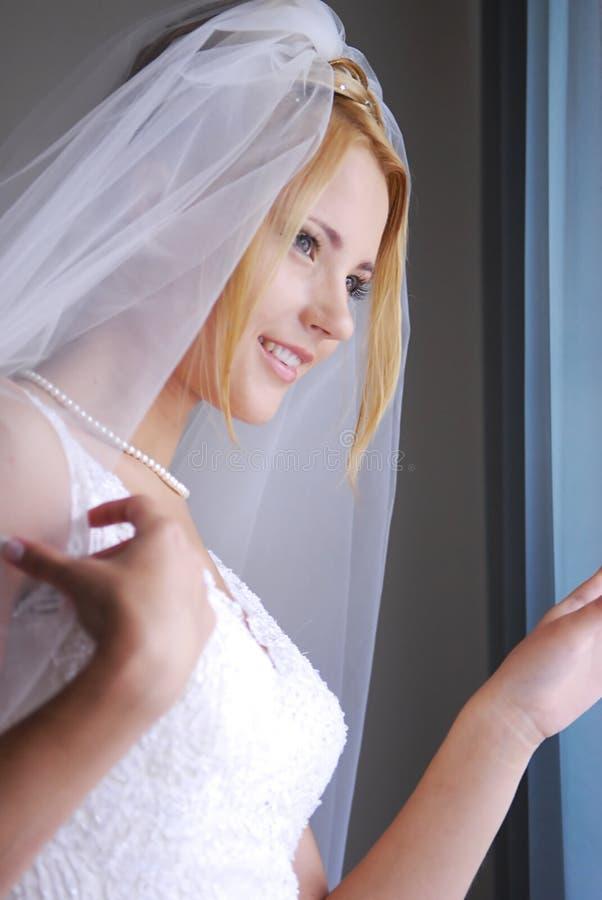 hennes prince för brud som whaiting royaltyfri foto