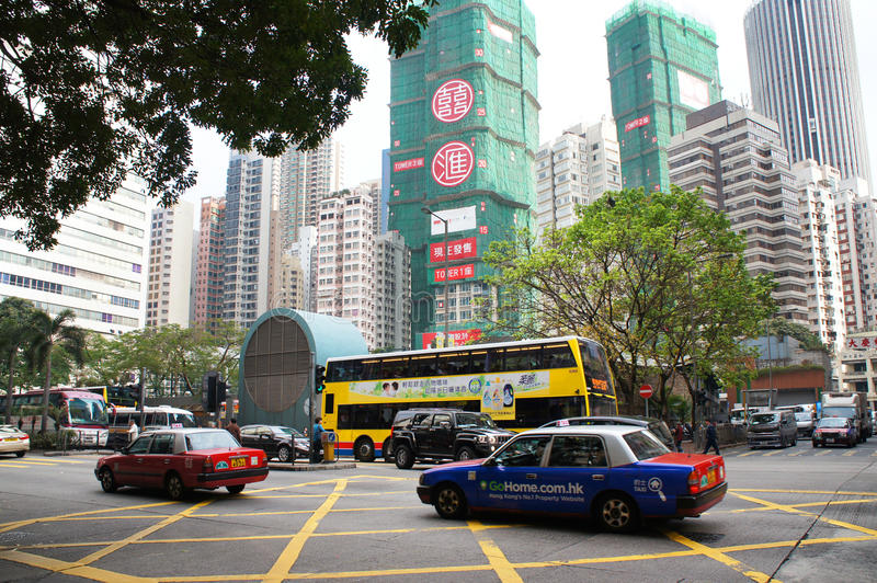 Download Hennessy street of Wanchai editorial stock image. Image of waffle - 39326039