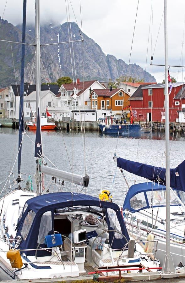 Henningsvaer, Lofoten -挪威 库存照片