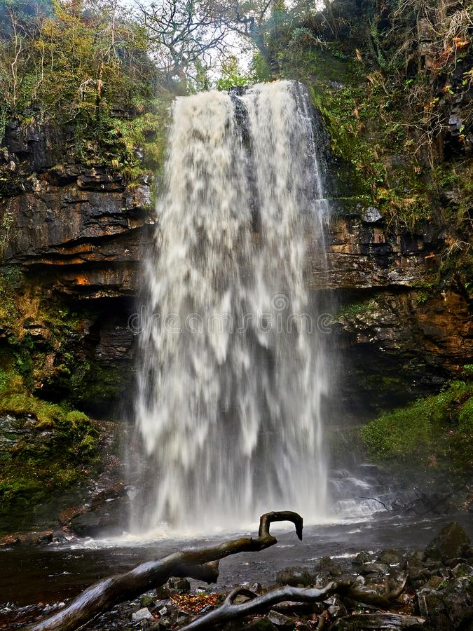 Free Henrhyd Falls Waterfall – The Batcave Entrance! Royalty Free Stock Photography - 104536927