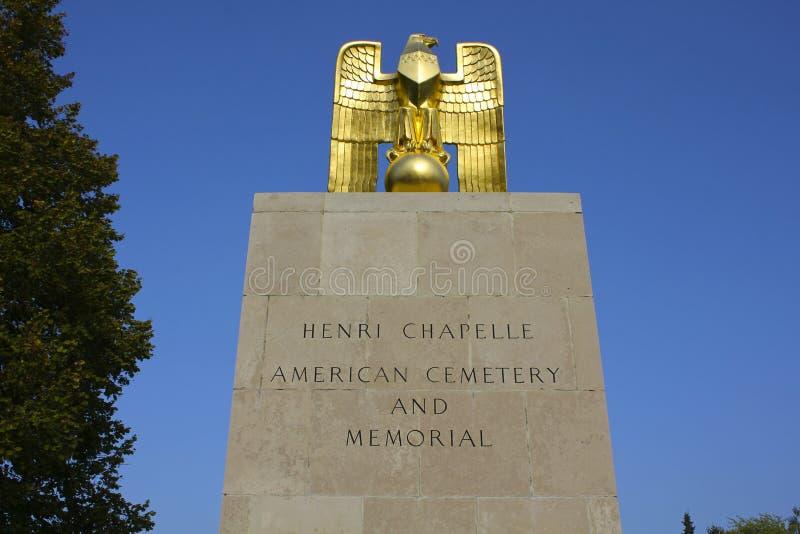 Henri-Chapelle American Cemetery Entrance imagenes de archivo