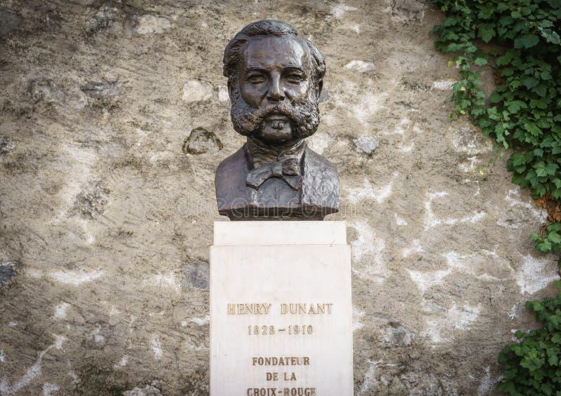 Henri Dunant, Ginebra, Switzeland fotografía de archivo