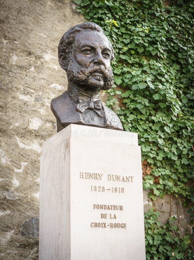 Henri Dunant, Ginevra, Switzeland immagini stock libere da diritti