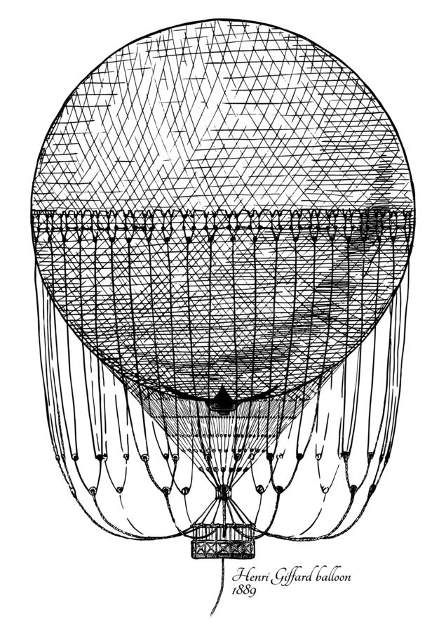 Henri Giffard-Ballon lizenzfreie abbildung