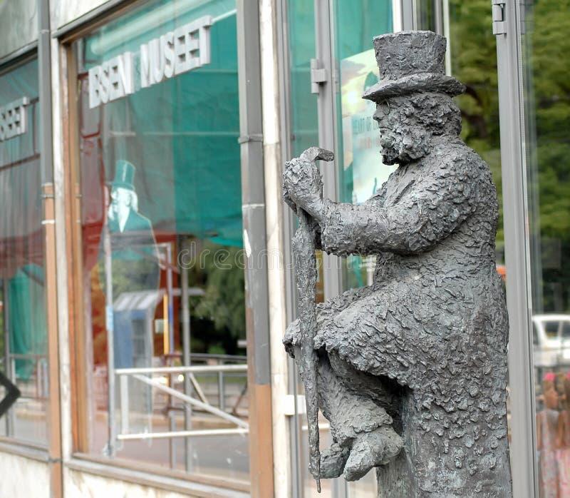 Henrik Ibsen staty i Oslo, Norge arkivfoto