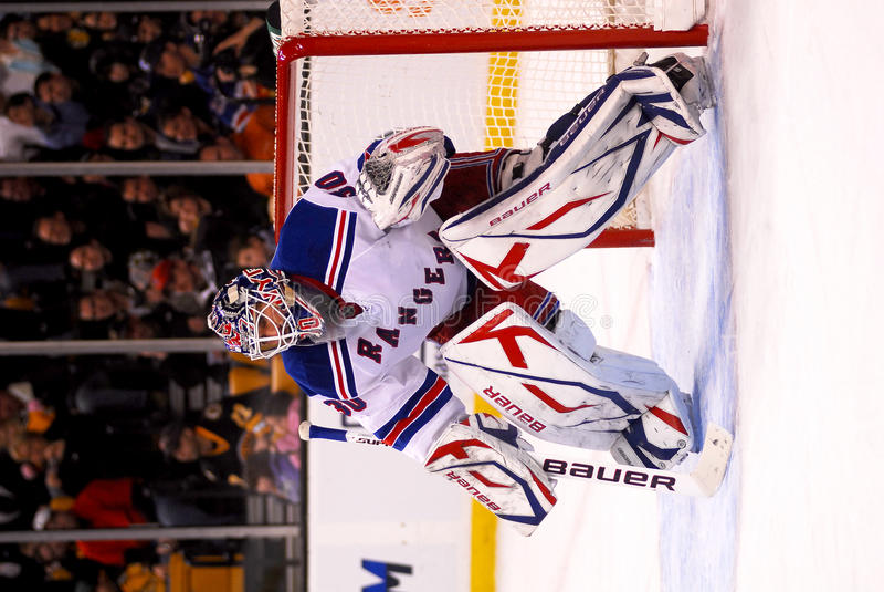 Henrik Lundqvist New York Rangers. New York Rangers goaltender Henrik Lundqvist #30 royalty free stock image