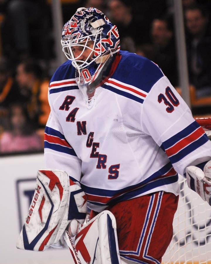 Henrik Lundqvist New York Rangers foto de archivo
