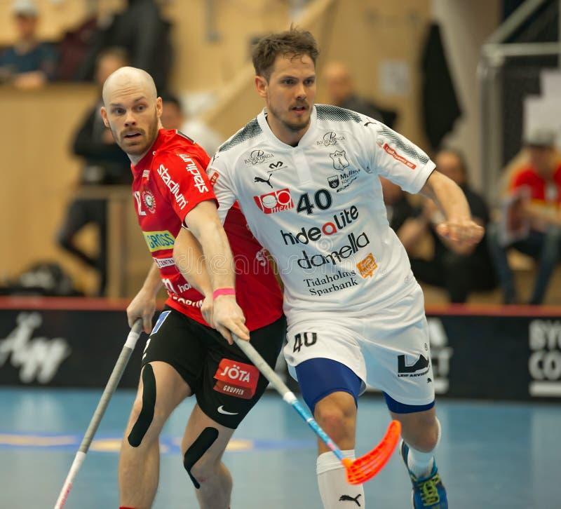 Henrik Stenberg contre Rikard Eriksson photographie stock libre de droits