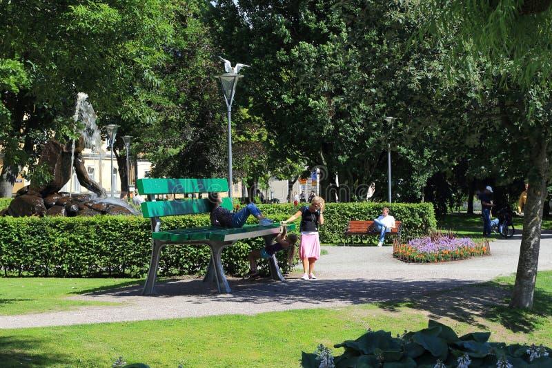 Henry Allard Park, Orebro, Zweden royalty-vrije stock foto's