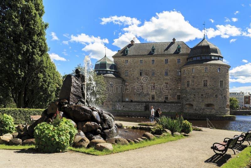 Henry Allard Park, Orebro, Zweden stock foto
