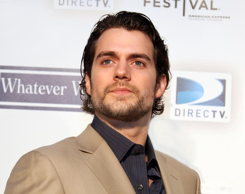 Henry Cavill. Actor Henry Cavill arrives for the screening of `Whatever Works` at the 8th Annual Tribeca Film Festival in Lower Manhattan on April 22, 2009 royalty free stock image