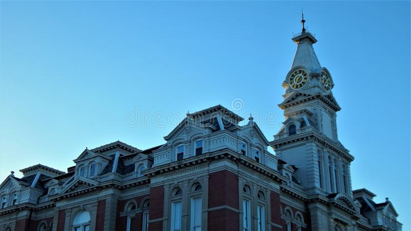 Henry County Courthouse Roof Detail royaltyfria bilder