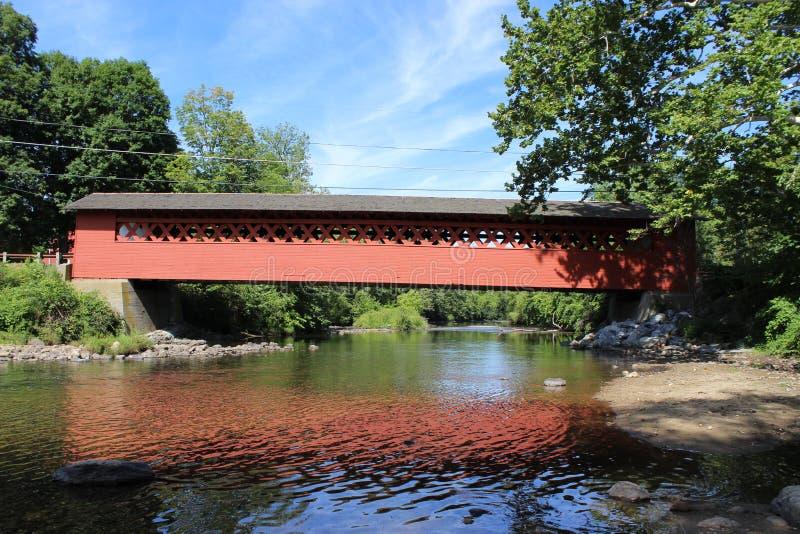 Henry Covered Bridge. In Bennington, VT royalty free stock image