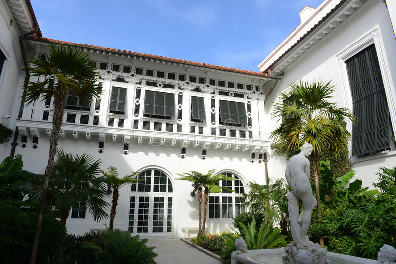 Henry Flagler Mansion, Palm Beach, Florida royalty-vrije stock foto