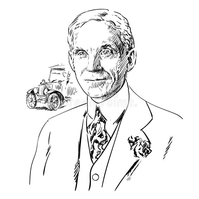 Henry Ford royalty-vrije illustratie