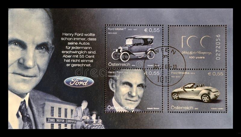 Henry Ford, amerikanischer Kapitän der Industrie, Geschäftsmagnat, Gründer Ford Motor Companys, circa 2003, lizenzfreie stockbilder