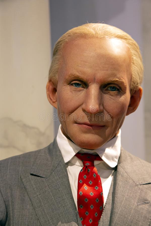 Henry Ford in Madame Tussauds of New York. New York, USA - April 30, 2018: Henry Ford in Madame Tussauds of New York royalty free stock photo