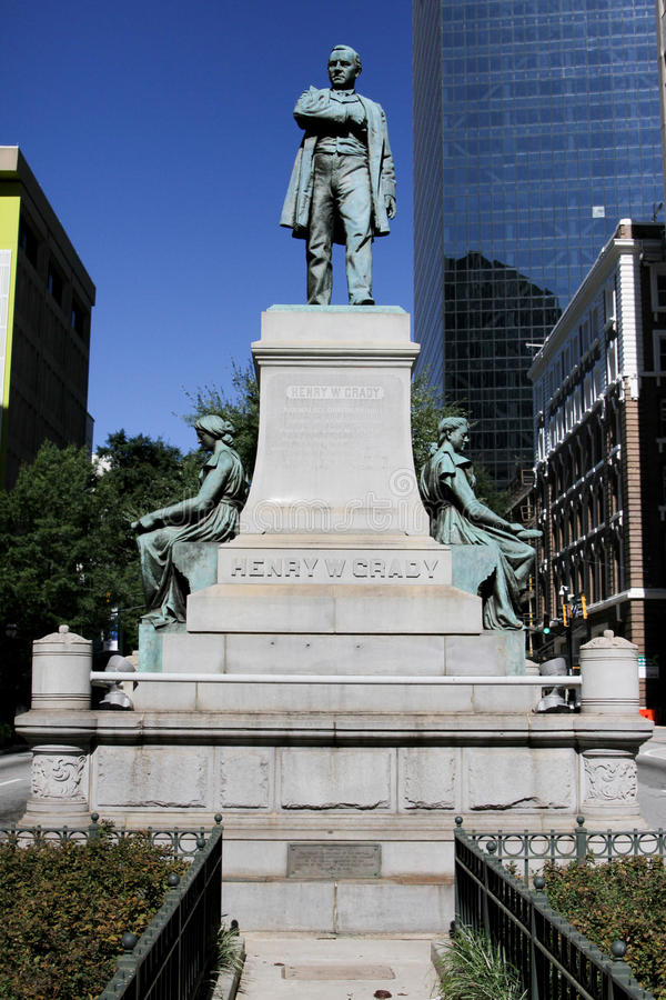 Henry Grady Statue, Atlanta, GA. The Henry Grady Statue in downtown Atlanta, GA royalty free stock image