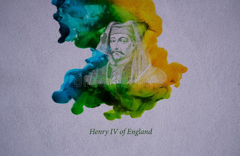 King Henry IV of England. Henry IV, also known as Henry Bolingbroke, was King of England from 1399 to 1413, and asserted the claim of his grandfather, Edward III vector illustration
