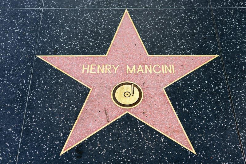 Henry Mancini gwiazda na Hollywood spacerze sława obrazy royalty free