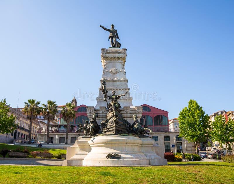 Henry monument Porto. Henry (Infante Dom Henrique) the Navigator Monument, Porto, Portugal royalty free stock images