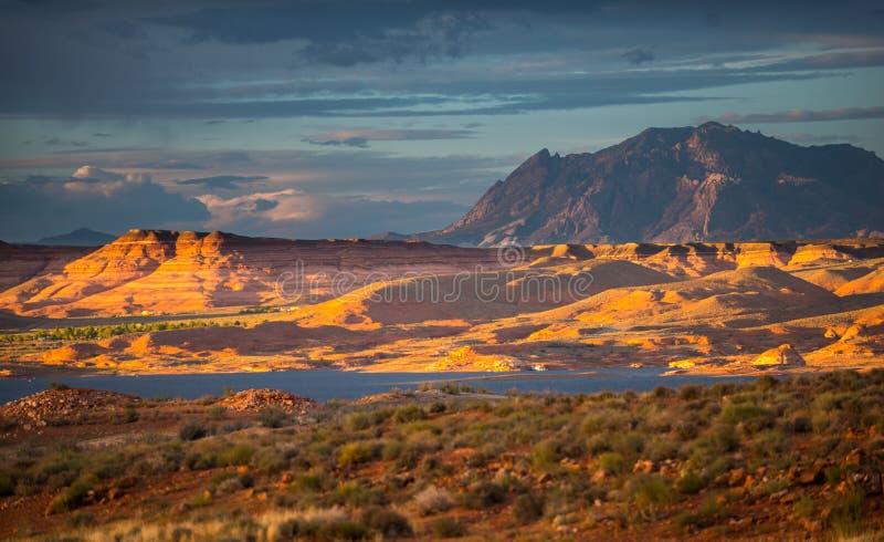 Henry Mountains södra centrala Utah, Förenta staterna arkivbild