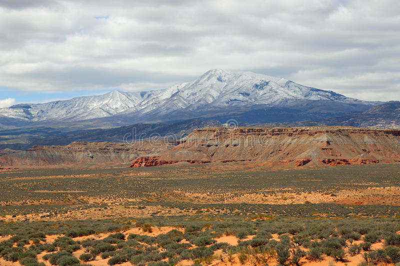 Henry Mountains. View at Henry Mountains in south Utah royalty free stock photo