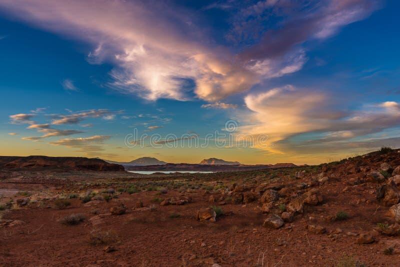 Henry Mountains, Zuid- Centraal Utah, Verenigde Staten stock afbeeldingen