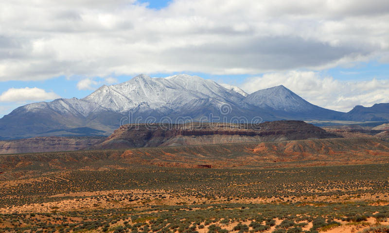 Henry Mountains in Zuid-Utah stock fotografie