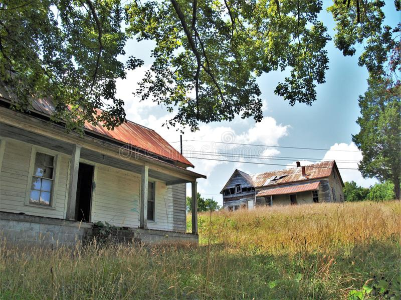 Henry River Mill Village lizenzfreies stockbild