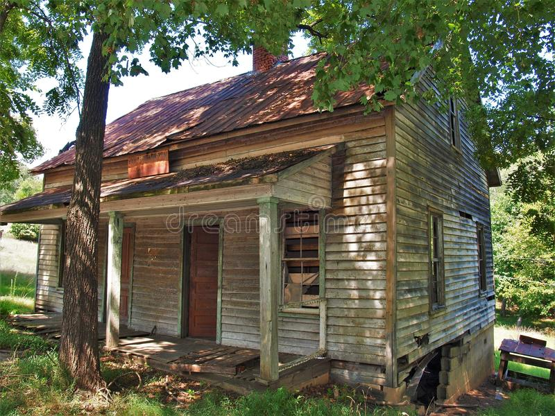 Henry River Mill Village. The ghost town of Henry River Mill Village in North Carolina was the filming location of District 12 in the movie The Hunger Games royalty free stock images