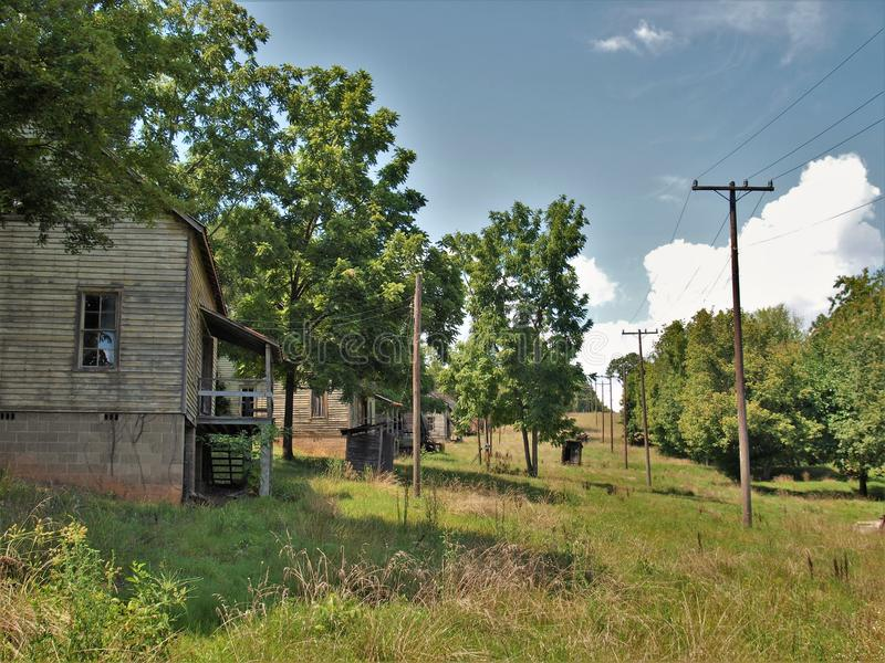 Henry River Mill Village. The ghost town of Henry River Mill Village in North Carolina was the filming location of District 12 in the movie The Hunger Games stock photos