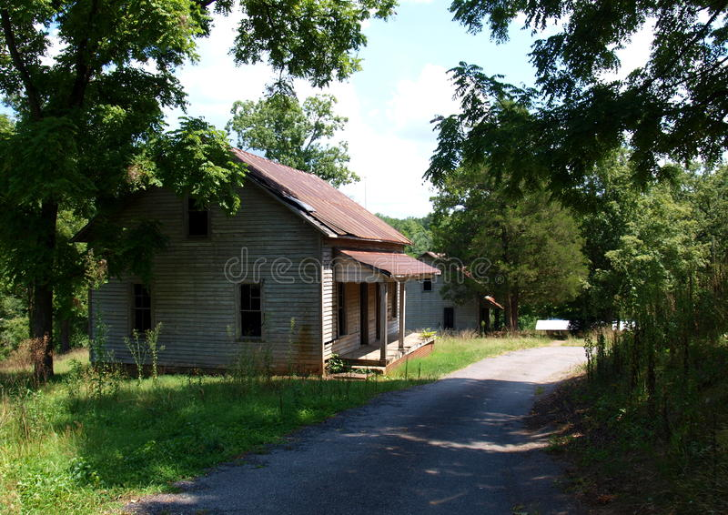 Henry River Mill Village. The ghost town of Henry River Mill Village in North Carolina was the filming location of District 12 in the movie The Hunger Games royalty free stock image