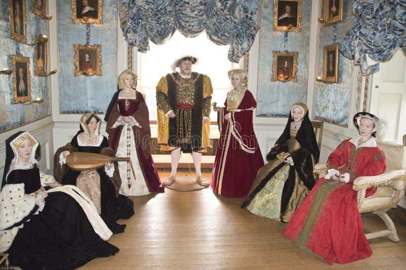 Henry VIII en zijn zes vrouwen royalty-vrije stock afbeeldingen