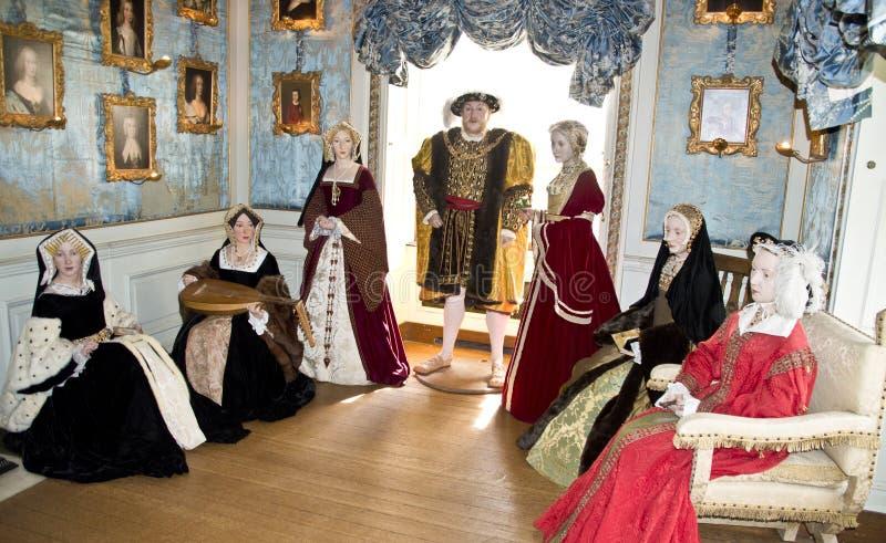 Henry VIII och hans sex fruar arkivbild