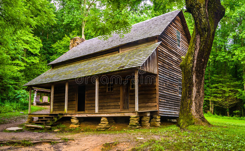 The Henry Whitehead Cabin, at Cade's Cove, Great Smoky Mountains royalty free stock image