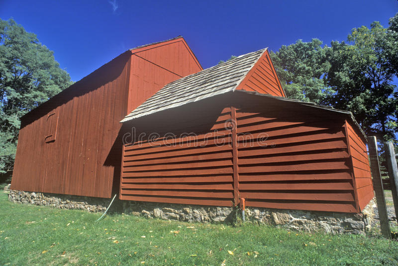 Henry Wick House, maison des troupes révolutionnaires en parc de Morristown, NJ photo libre de droits