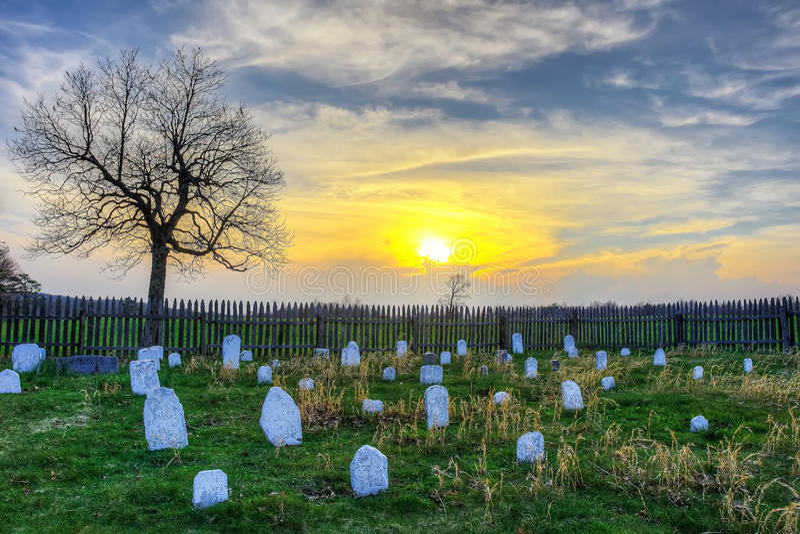 Hensley kyrkogård i den Cumberland Gap nationalparken arkivfoton