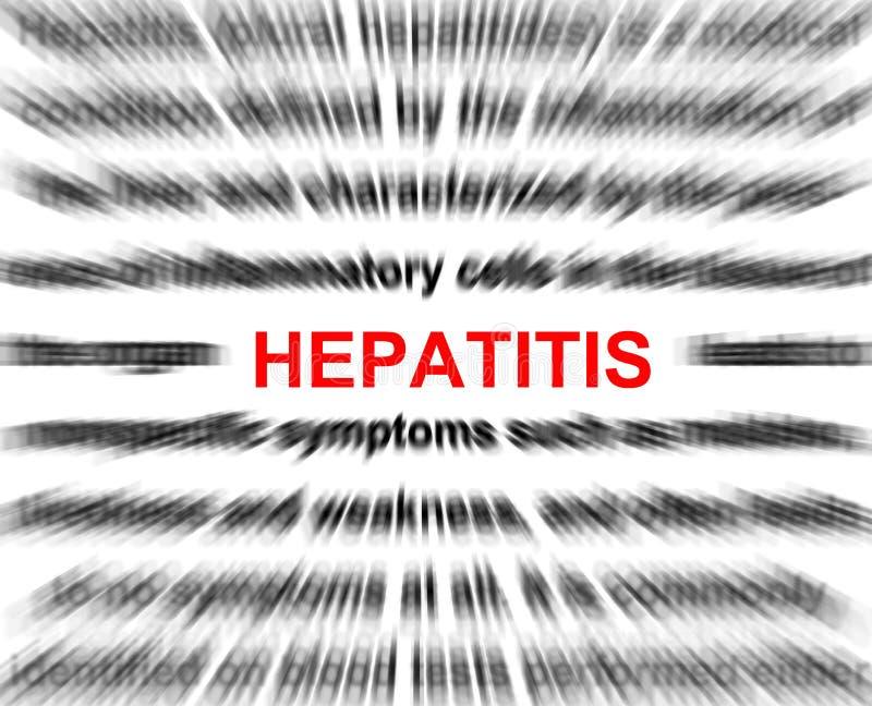 Hepatit royaltyfri illustrationer