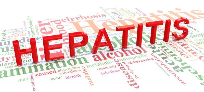 hepatit släkt till ord stock illustrationer