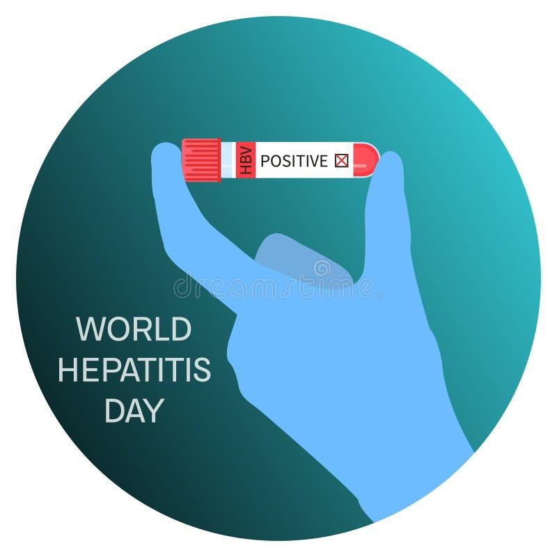 Hepatitdagaffisch stock illustrationer