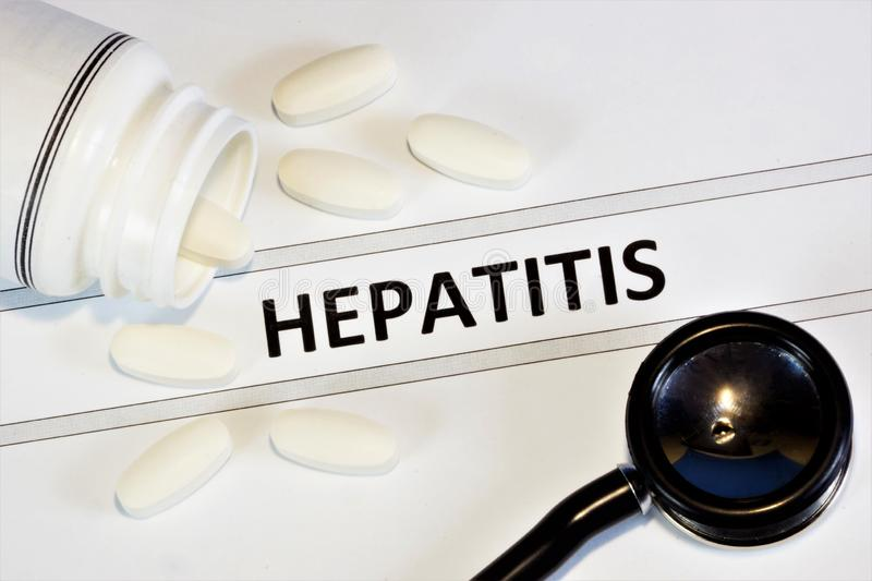 Hepatitis—an inflammatory anthroponoses a liver disease of viral origin. Treatment with antiviral agents, the appointment of a royalty free stock photography