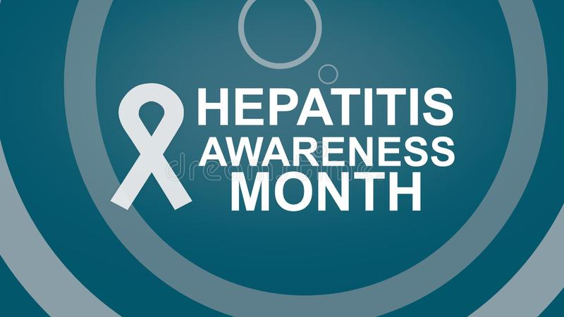 Hepatitis Awareness Month, an annual campaign raising the awareness of viral hepatitis. Hepatitis Testing Day. Can be used for Poster, card, banner or royalty free illustration