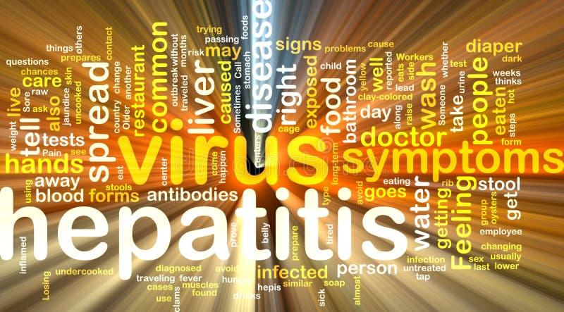 Hepatitis word cloud glowing vector illustration