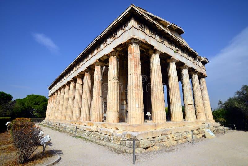 Hephaestus寺庙在雅典 图库摄影