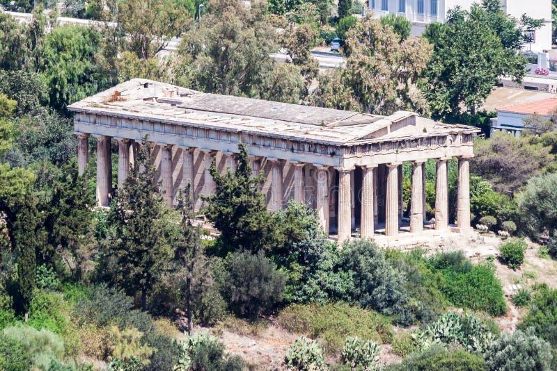 Hephaestus Świątynny Ateny Grecja obraz royalty free