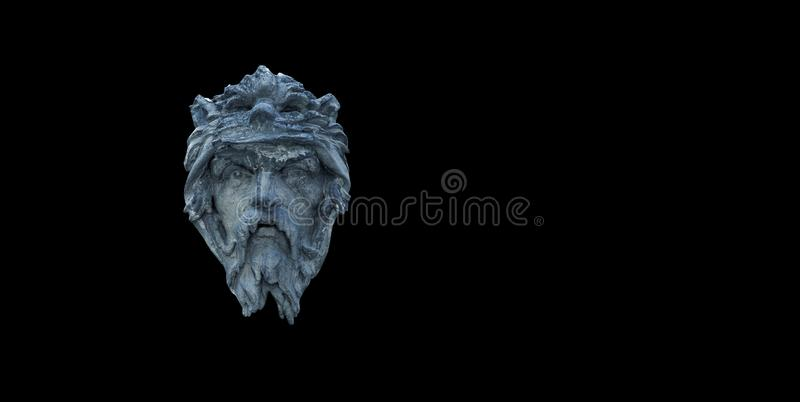 hephaestus En dios de la mitología griega y romana de la fragua y herreros Fragmento de la estatua antigua foto de archivo libre de regalías