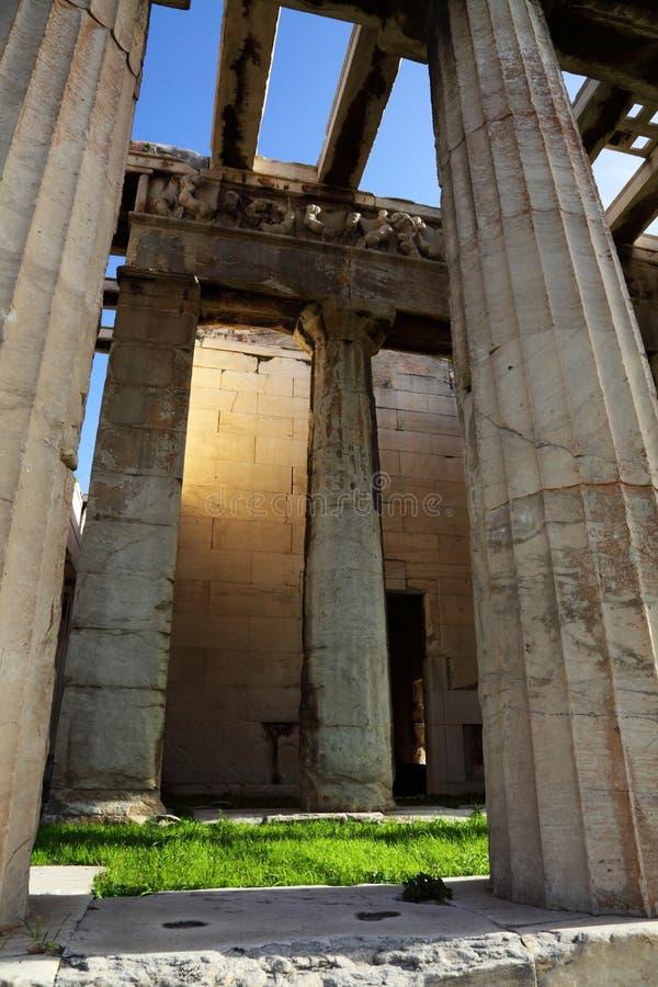 hephaestus hephaisteion寺庙 库存照片
