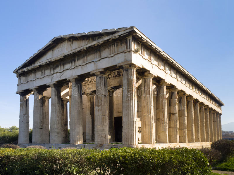 Hephaisteion (tempiale di Hephaistos e di Athena) fotografia stock